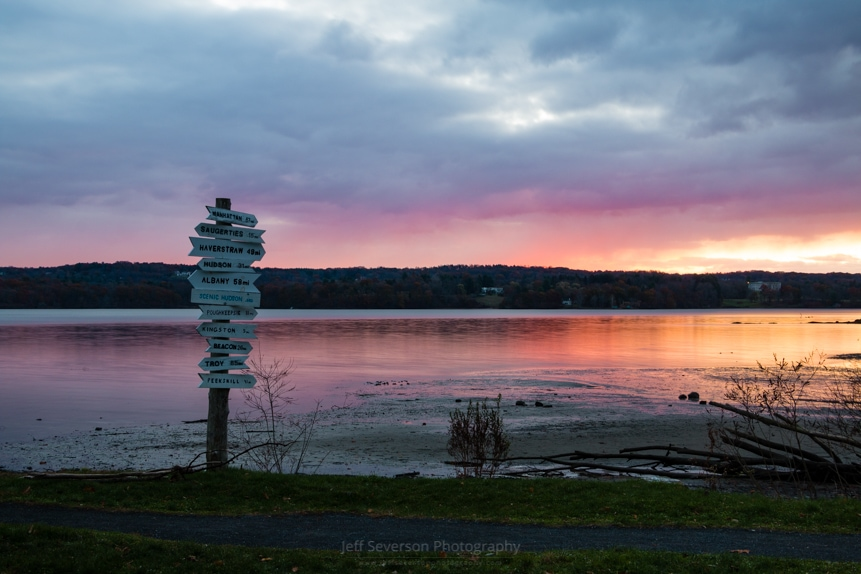 November Sunrise at Esopus Meadows II