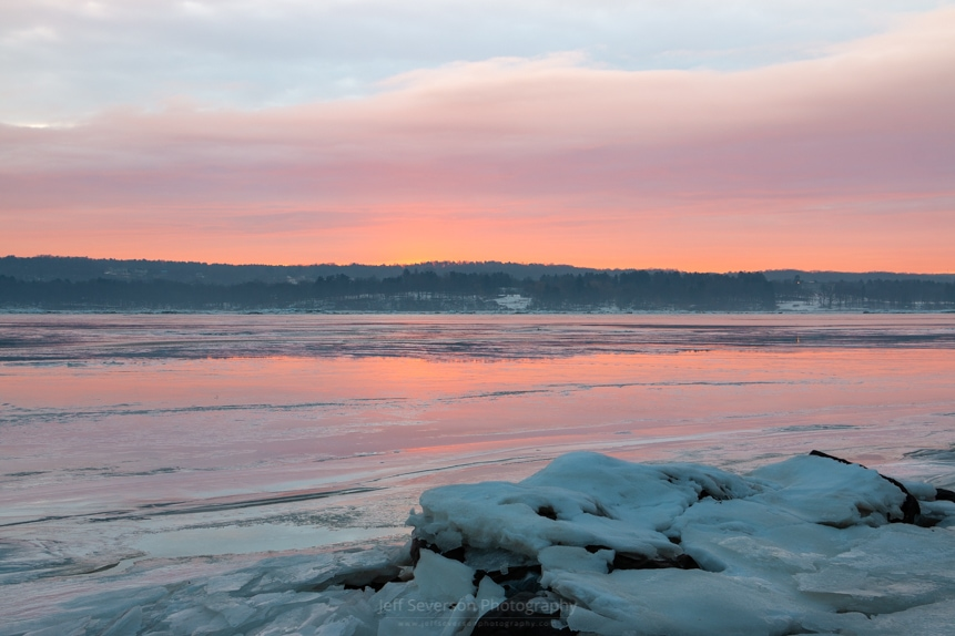 February Sunrise on the Hudson