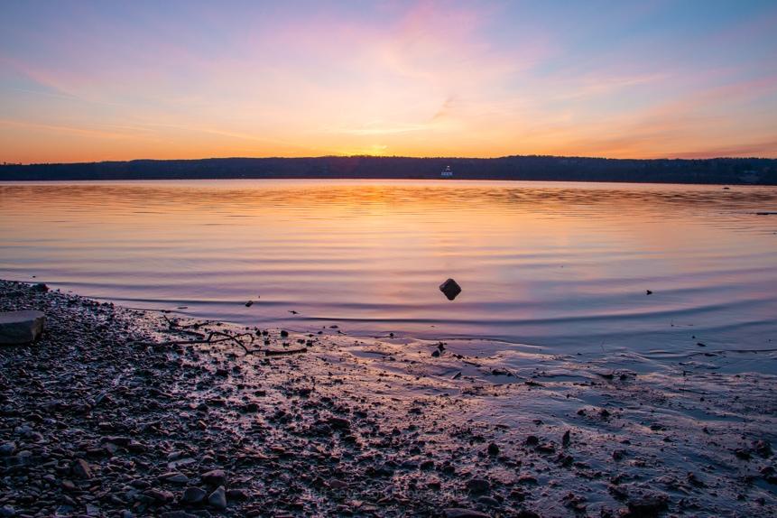 April Dawn on the Hudson River II