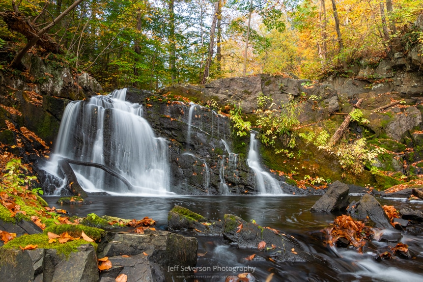 A photo of the semi-secret lower waterfall along Black Creek in the town of Esopus, NY.