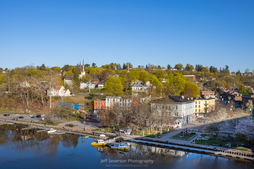 A photo of the Kingston-Rondout district on a Spring morning.