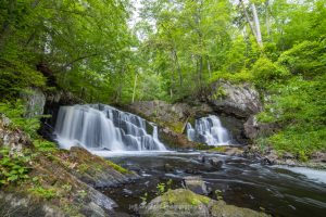 A photography of Lower Falls, a waterfall along Black Creek, in the Town of Esopus, NY.