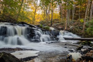 A photo of an unnamed waterfall of Black Creek as it winds through the Black Creek State Forest in Highland, NY.